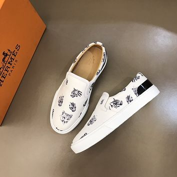 HERMES2021 Men Fashion Boots fashionable Casual leather Breathable Sneakers Running Shoes06190qh