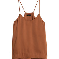 Satin Tank Top - from H&M