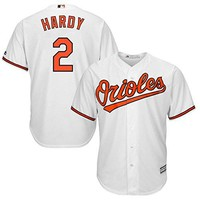 Men's JJ Hardy Baltimore Orioles #2 Home Jersey White - Xlarge