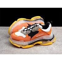 Balenciaga new transparent jelly soles daddy shoes men and women sports shoes