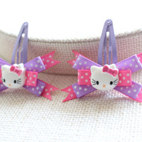 Baby / Toddler / Girl Hair Clips, Hello Kitty Snap Clip