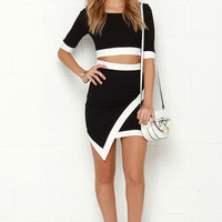 Tickle the Ivories Black Two-Piece Dress