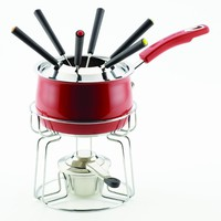 Rachael Ray 2-Quart Fondue Set- Red