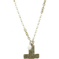Proverbs 3:5 Cross Necklace
