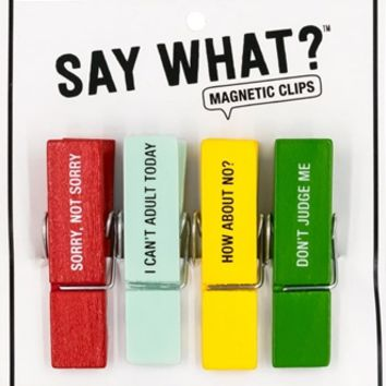 Magnetic Chip Clips- Sorry Not