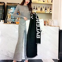 Balenciaga winter hot sale classic scarf letter logo fashion men and women scarf