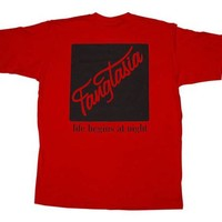 True Blood Fangtasia Life Begins At Night Red Adult T-Shirt Tee
