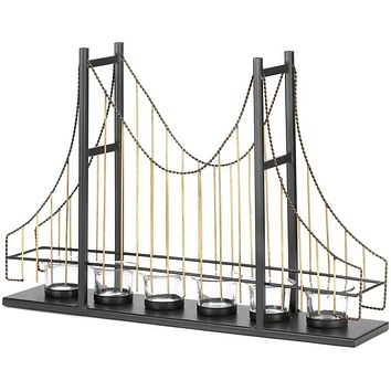 Golden Gate Bridge Wire Candle Holder
