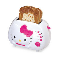 Hello Kitty 2-Slice Wide Slot Toaster with Cool Touch Exterior