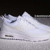 Bling Nike Shoes Nike Womens AIR MAX THEA with Swarovski Clear Cystals