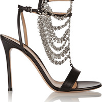 Gianvito Rossi - Chain-embellished leather sandals