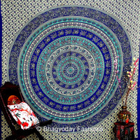 elephant mandala Large Hippie Hippy Wall Hanging  Indian Mandala Tapestry Fabric Throw Bedspread Queen Bed Decor Sheet Ethnic Decorative Art
