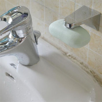 Magnetic Soap Holder Container Dispenser Wall Attachment Adhesion Soap Dishes for Bathroom Soap Accessories