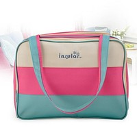 insular Colorful stripe diaper bag multifunctional waterproof baby care nappy mummy bag mother Shoulder Tote stroller bags