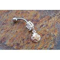 Gold Starfish Belly Button Ring Belly Jewelry