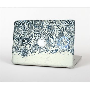 The Vintage Tan & Black Top Swirled Design Skin Set for the Apple MacBook Air 13""