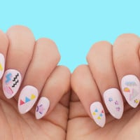 Nail Tattoos / Nail Decals / Nail Stickers - Geometry