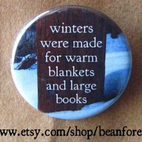 winters blankets and books by beanforest on Etsy