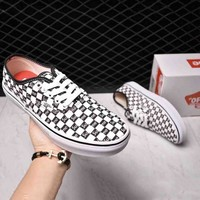 VANS & SUPREME Co-brand Style Trendy Canvas Casual Low Top Shoes F-CSXY