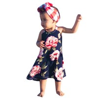 Family Matching Outfit Summer Fashion Baby Sleeveless Suspenders Long Floral Printed Daughter Dresses Mom Dress Clothes