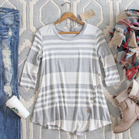 Button & Stripe Tee