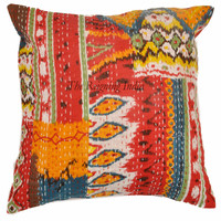 New Indian Patchwork Sari Ethnic HIGH QUALITY Kantha Cushion Cover 11135