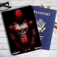 Punisher and Daredevil Leather Passport Wallet Case Cover