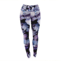 "Claire Day ""Violet"" Blue Purple Yoga Leggings"