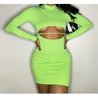 Sexy Hollow Out Bodycon Dress