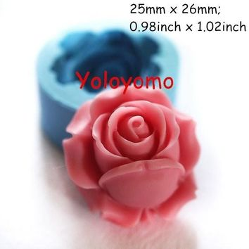 Rose / Flower 26mm Silicone Mold for Fondant, Cake Decorating Chocolate Cookie Soap JM-04-00022 (Size: 0, Color: Blue) = 5658089153