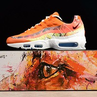 Dave White x size? x Nike Air Max 95 Cayenne / Maroon Sport Running Shoes 872640-600-1