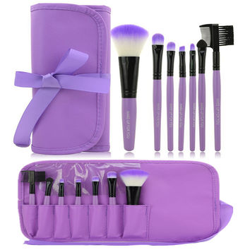 Hot 7pcs Kit Makeup Brushes Professional Set Cosmetic Lip Blush Foundation Eyeshadow Brush Face Make Up Tool Beauty Essentials