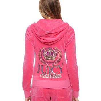 Logo Velour Juicy Couture Crown Original Jacket by Juicy Couture