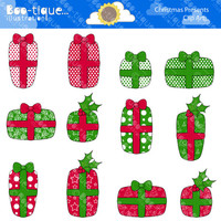 Christmas Presents Digital Clipart. Christmas Clip Art for Instant Download. Xmas Clipart. Presents Clip Art. Xmas Presents Clipart