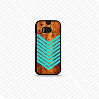 Chevron Pattern Htc One M8 Cover, Htc One M8 Case, Htc One M8 Cover(Not a real Wood)
