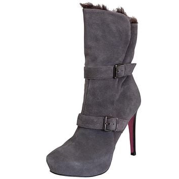 Paris Hilton Footwear - Candace - Dark Grey Suede