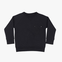 Soft Gallery Unisex Ryan Quilted Sweatshirt in Jet Black - 2491299 - FINAL SALE