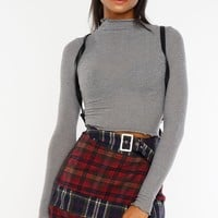 Two Ways Plaid Skirt
