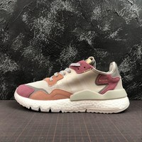 Adidas Nite Jogger 2019 Boost Grey Pink Sport Running Shoes - Best Online Sale