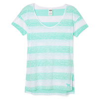 Split Side Scoopneck Tee - PINK - Victoria's Secret