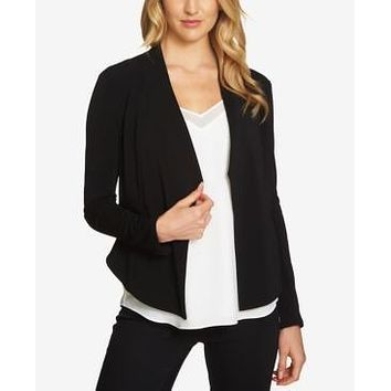 1.STATE Womens Open-Front Blazer, Small/Basic Black