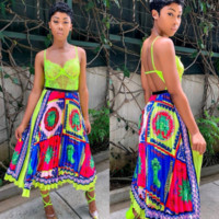 Newest Fashion Women Print Skirt