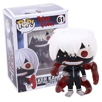 FUNKO POP! Animation Tokyo Ghoul Kaneki Ken #61 Vinyl Figure Collectible Model Toy