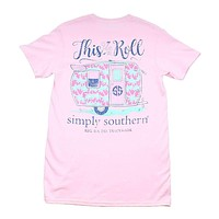 Preppy Roll Tee by Simply Southern