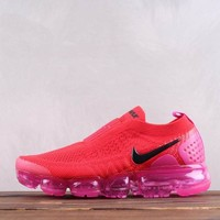 DCCK2 Nike Air Vapormax Moc 2.0 Bandage Knitted Running Shoes Red Pink