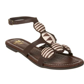 EROS MOSIAC SANDALS - BROWN