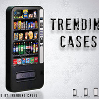 Black Vending Machine iPhone case for iPhone 4, iPhone 4s, iPhone 5, Samsung Galaxy S3 - Gift- Gadget