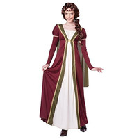 California Costumes Womens Medieval Maiden Halloween Party Dress Costume