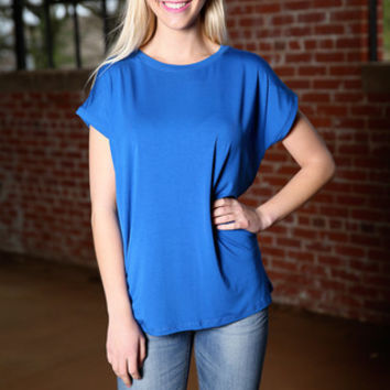 Piko Wide Sleeve Top - classic blue