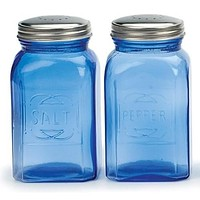 Retro Salt & Pepper Shakers – Blue, 8 oz. (.24L)